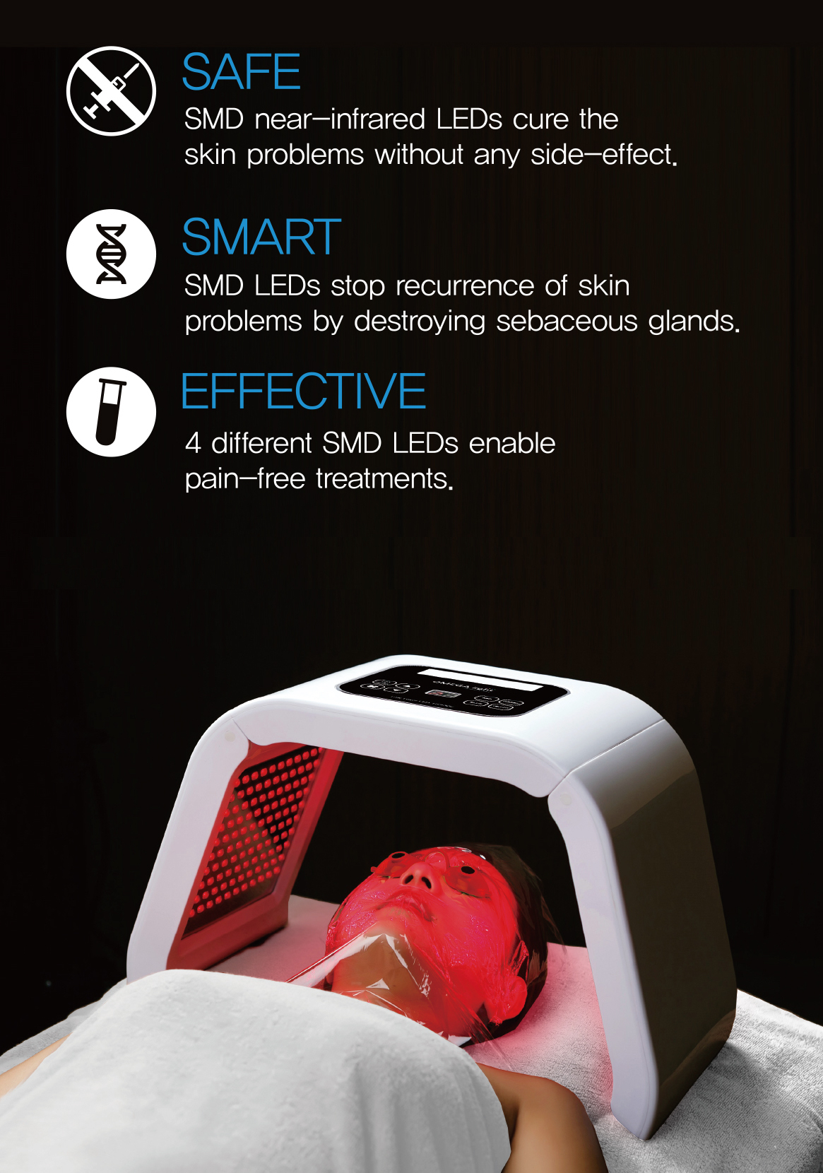 benefits of omega light therapy: safe, smart, effective